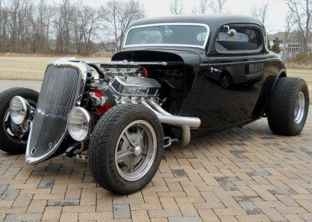 1933 Ford 3 Window Coupe Street Rod Re-Creation